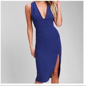 Blue midi dress from lulus